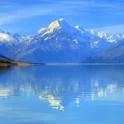 Mont Cook et les lacs turquoises